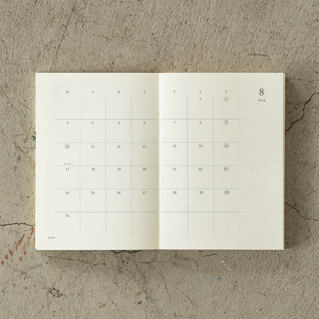 Midori MD Notebook 2020 Diary A6 - noteworthy