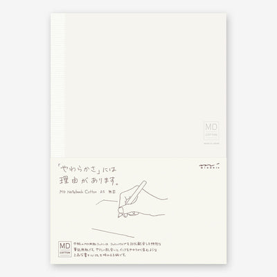 Midori MD Cotton Notebook A5 -Blank- - noteworthy
