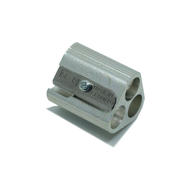 M+R Triple Hole Magnesium Pencil Sharpener - noteworthy