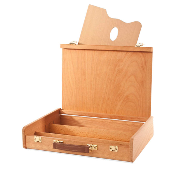 Oiled Beech Wood Sketch Box and Palette - noteworthy