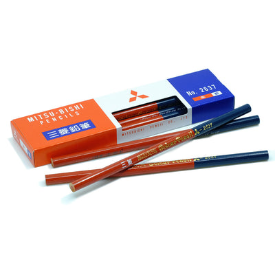 Mitsubishi 2637 Vermilion Red and Prussian Blue Pencil 7:3