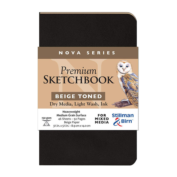 Stillman & Birn, Nova Series Sketchbook, Softcover (3.5in. x 5.5in.) - Beige - noteworthy
