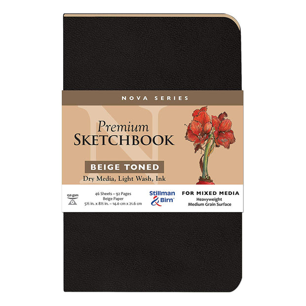 Stillman & Birn, Nova Series Sketchbook, Softcover (5.5in. x 8.5in.) - Beige - noteworthy