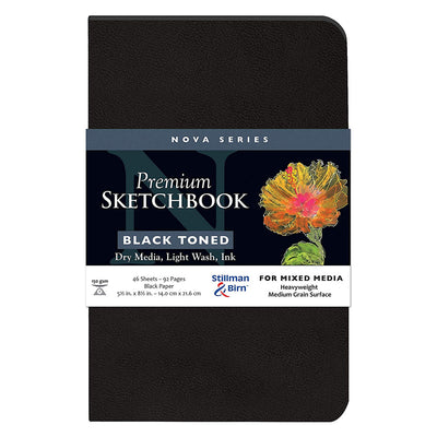 Stillman & Birn, Nova Series Sketchbook, Softcover (5.5in. x 8.5in.) - Black - noteworthy
