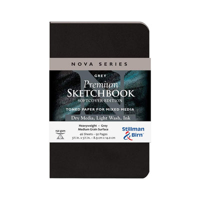 Stillman & Birn, Nova Series Sketchbook, Softcover (3.5in. x 5.5in.) - Grey - noteworthy