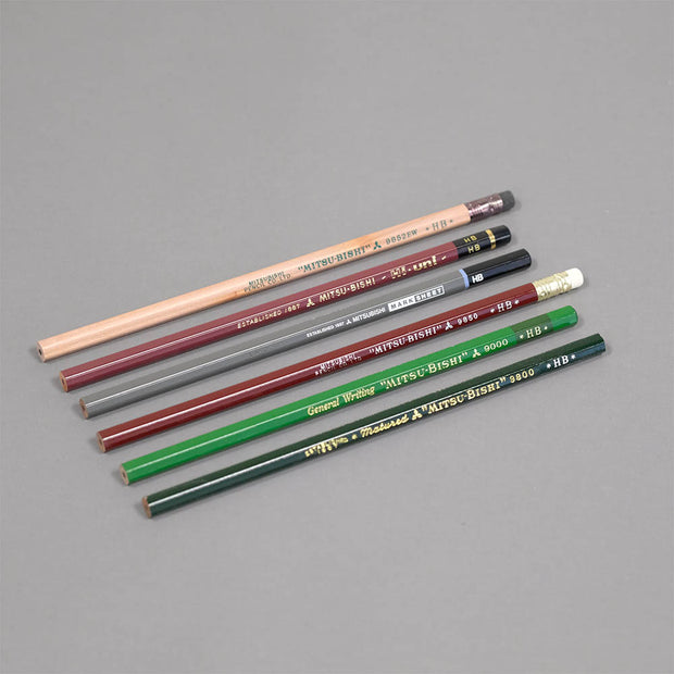 Mitsubishi 6 Pencil Sampler Set- HB - noteworthy
