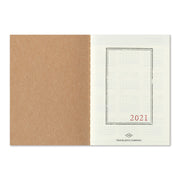 Traveler's Notebook Refill 2021 Monthly Diary for Passport Size