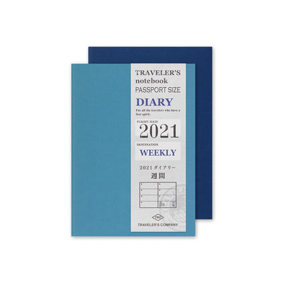 Traveler's Notebook Refill 2021 Weekly Diary for Passport Size