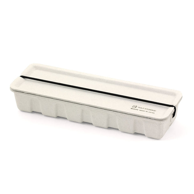 Midori Pulp Pencil Case, White - noteworthy