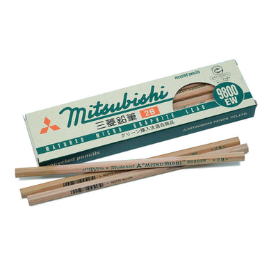 Mitsubishi 9800EW Pencil, Set of 12 - 2B - noteworthy