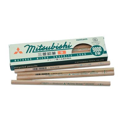 Mitsubishi 9800EW Pencil, Set of 12 - B - noteworthy