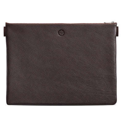 Sonnenleder Rilke Document Bag, Pouch - Mocha Brown