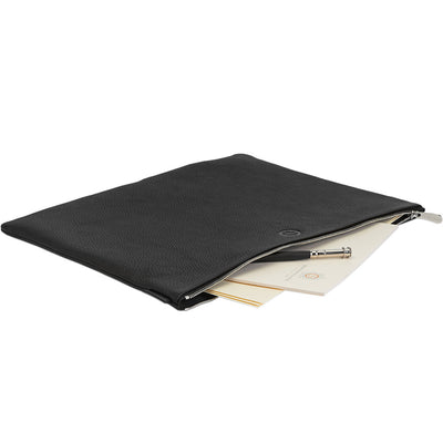 Sonnenleder Rilke Document Bag, Pouch - Black - noteworthy