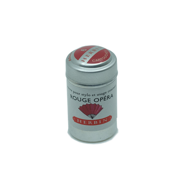 J. Herbin Rouge Opéra (Opera Red) Ink Cartridges - Tin of 6