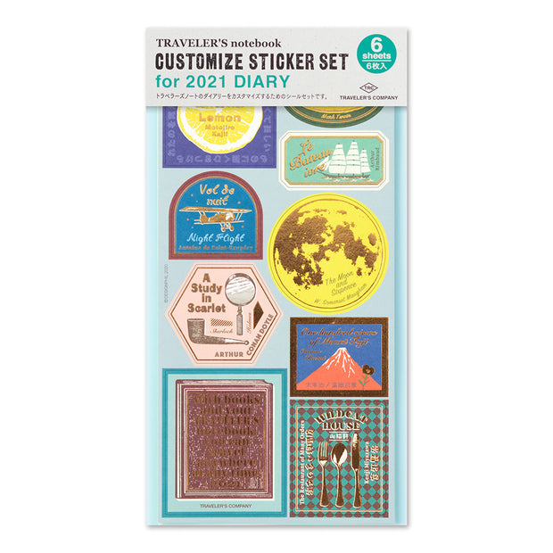 Traveler's Notebook Customize Sticker Set 2021