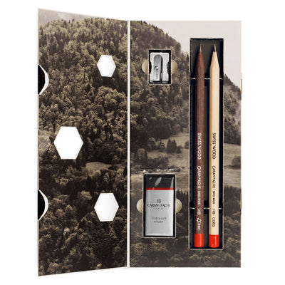 Caran d´Ache Swiss Wood Gift Set of 2 HB Pencils - noteworthy
