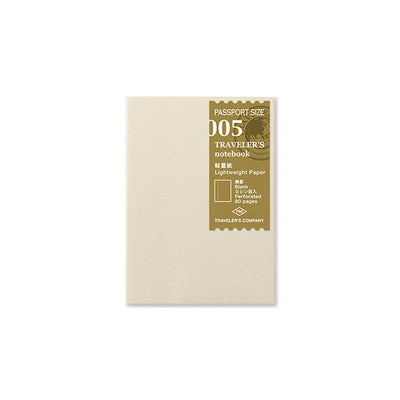 Traveler´s Notebook Refill 005 (Lightweight Paper) for Passport Size - noteworthy