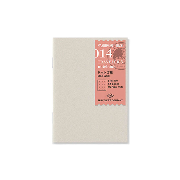 Traveler´s Notebook Refill 014 Dot Grid 5mm x 5mm for Passport Size - noteworthy