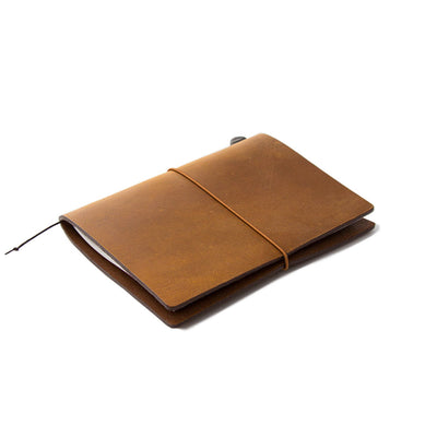 Traveler´s Notebook Starter Kit Passport Size, Camel - noteworthy