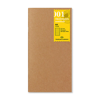 Traveler´s Notebook Refill 001 (Lined Notebook) for Regular Size - noteworthy