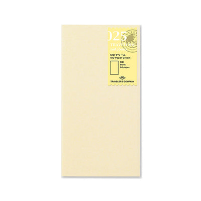 Traveler´s Notebook Refill 025 MD Paper Cream for Regular Size - noteworthy