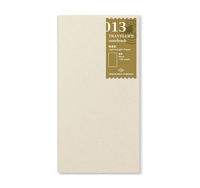 Traveler´s Notebook Refill 013 (Lightweight Paper) for Regular Size - noteworthy