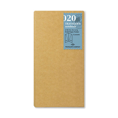 Traveler´s Notebook Refill 020 (Kraft Paper Folder) for Regular Size - noteworthy