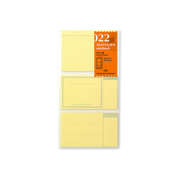 Traveler´s Notebook Refill 022 (Sticky Notes) for Regular Size - noteworthy