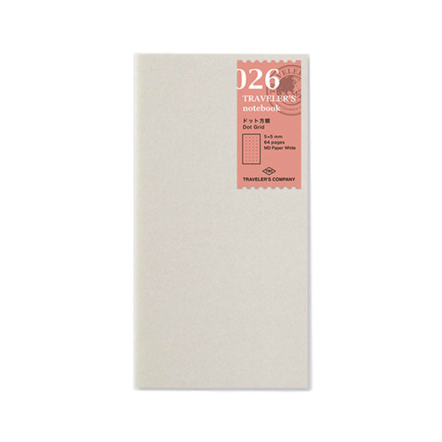 Traveler´s Notebook Refill 026 Dot Grid 5mm x 5mm for Regular Size - noteworthy