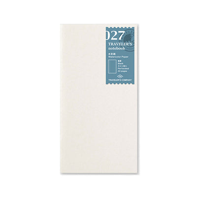 Traveler´s Notebook Refill 027 Watercolor Paper for Regular Size - noteworthy