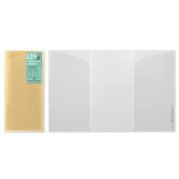 Traveler´s Notebook Refill 029 Three Fold File for Regular Size - noteworthy