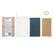 Traveler´s Notebook Starter Kit Regular Size, Blue - noteworthy