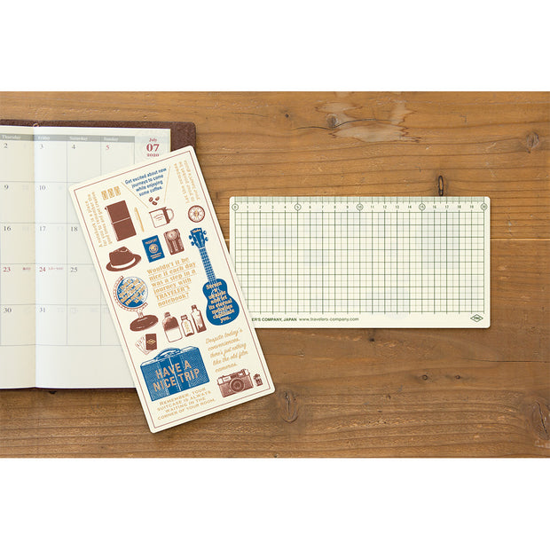 Traveler's Notebooks Plastic Sheet 2020 for Regular Size - noteworthy