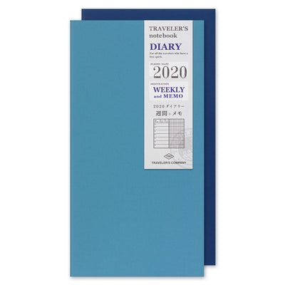 Traveler's Notebook Refill 2020 Weekly + Memo Diary for Regular Size