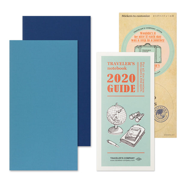 Traveler's Notebook Refill 2020 Weekly + Memo Diary for Regular Size - noteworthy