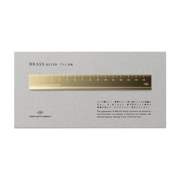 Traveler´s Company Brass Ruler, 16cm - noteworthy