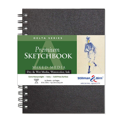 Stillman & Birn, Delta Series Wirebound Sketchbook, Hardcover (6in. x 8in.) - Ivory - noteworthy