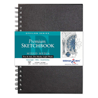 Stillman & Birn, Epsilon Series Wirebound Sketchbook, Hardcover (7in. x 10in) - White - noteworthy
