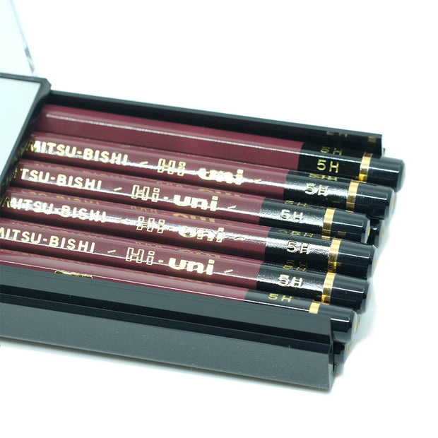 Mitsubishi Hi-Uni Graphite Pencil 5H, Set of 12 - noteworthy