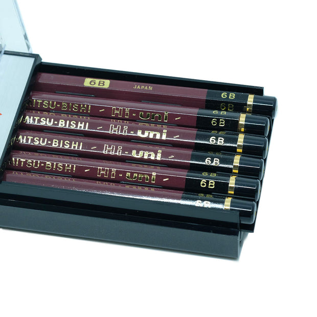 Mitsubishi Hi-Uni Graphite Pencil 6B , Set of 12 - noteworthy