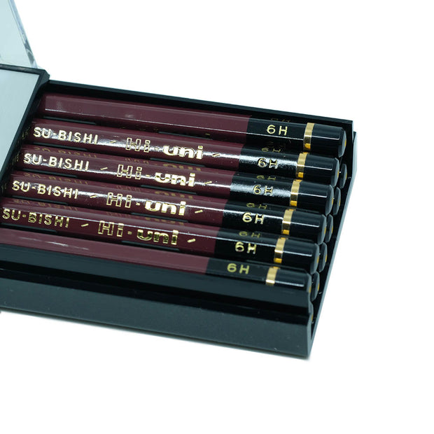 Mitsubishi Hi-Uni Graphite Pencil H, Set of 12 - noteworthy