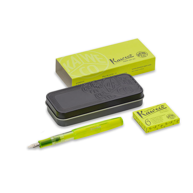 Kaweco Glow Marker Fountain Pen Set - Yellow - noteworthy