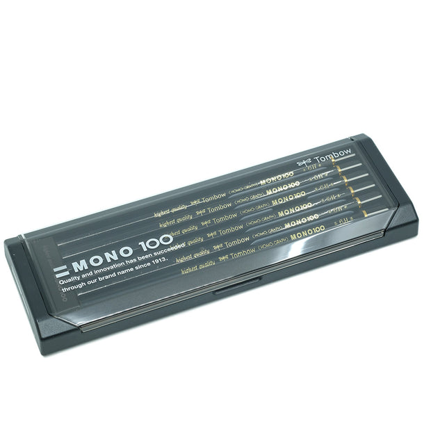 Tombow Mono 100 Graphite Pencil, Set of 12 - 6H - noteworthy