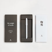 ystudio Resin Fountain Pen, White - F (Fine nib) - noteworthy