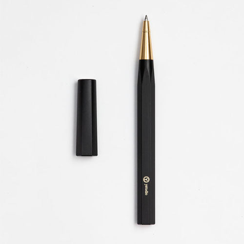ystudio Resin Rollerball Pen - Black