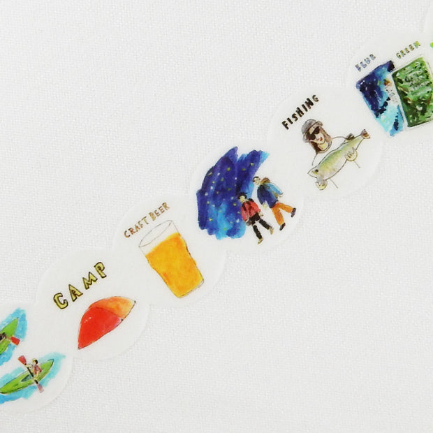 Round Top + Hirano Toshiyuki Washi Tape - Walk in the mountain - noteworthy