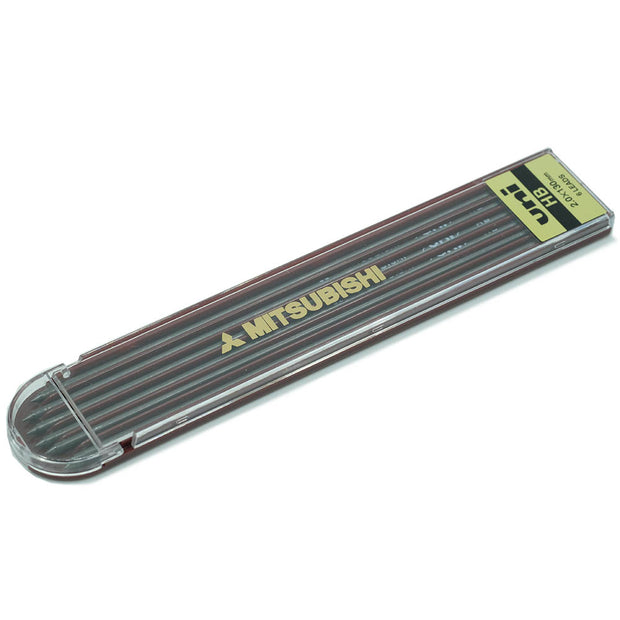 Uni Mitsubishi 2mm Graphite Lead, pack of 6 - HB - noteworthy