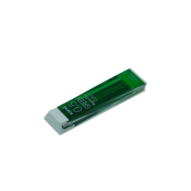 Mitsubishi Uni Nanodia Mechanical Pencil Lead Color, 0.5 mm - Green - noteworthy