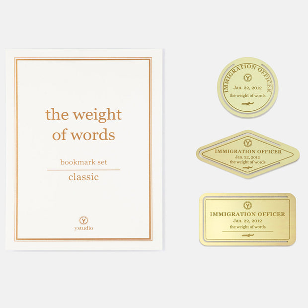 ystudio Brass Bookmark Set - noteworthy