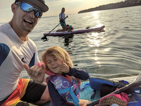 SUP Paddle Boarding with Kids